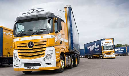 Elddis Mercedes-Benz Actros joins millionaires club