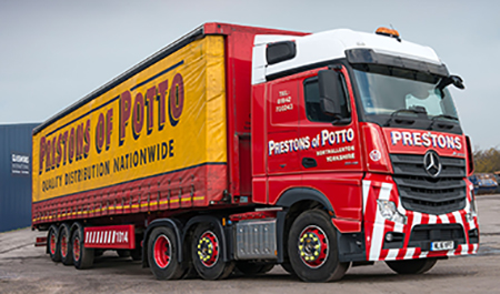 Mercedes-Benz Actros rises to Prestons of Potto's Fuel Challenge