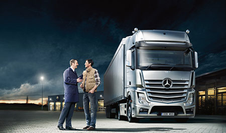 Truck service bell truck and van for Mercedes benz service contract