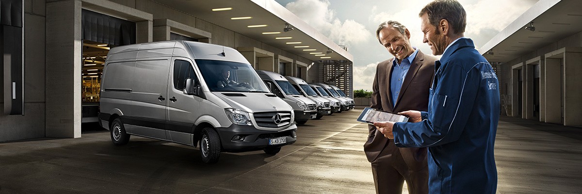 Book a service bell truck and van for Mercedes benz prepaid maintenance