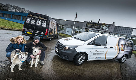 Ex-soldiers enlist their 'pets on parade' for Mercedes-Benz vans duty