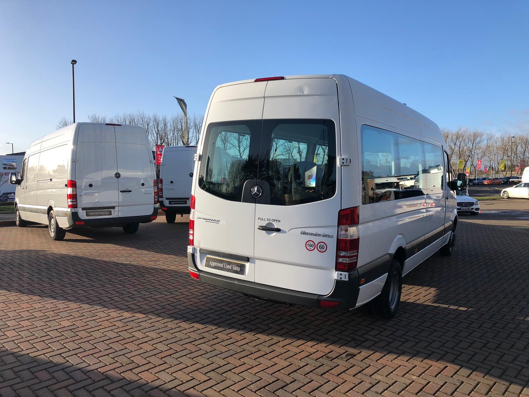 Mercedes benz sprinter 513cdi mini bus bell truck and van for Mercedes benz minibuses